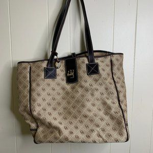 Dooney And Bourke Tote Bag Purse Brown Large